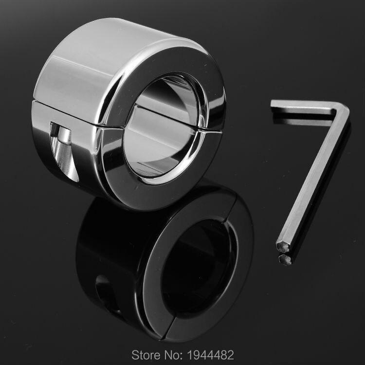 Anneau de Scrotum en acier inoxydable 600g anneau de verrouillage en métal anneau de blocage CBT brancards à billes