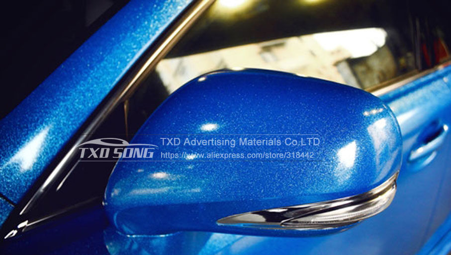 Image 5 - 12/30/50/60X100CM/LOT FOR CHOICE Premium Blue High glossy diamond vinyl wrap film with air free bubbles by free shipping-in Car Stickers from Automobiles & Motorcycles