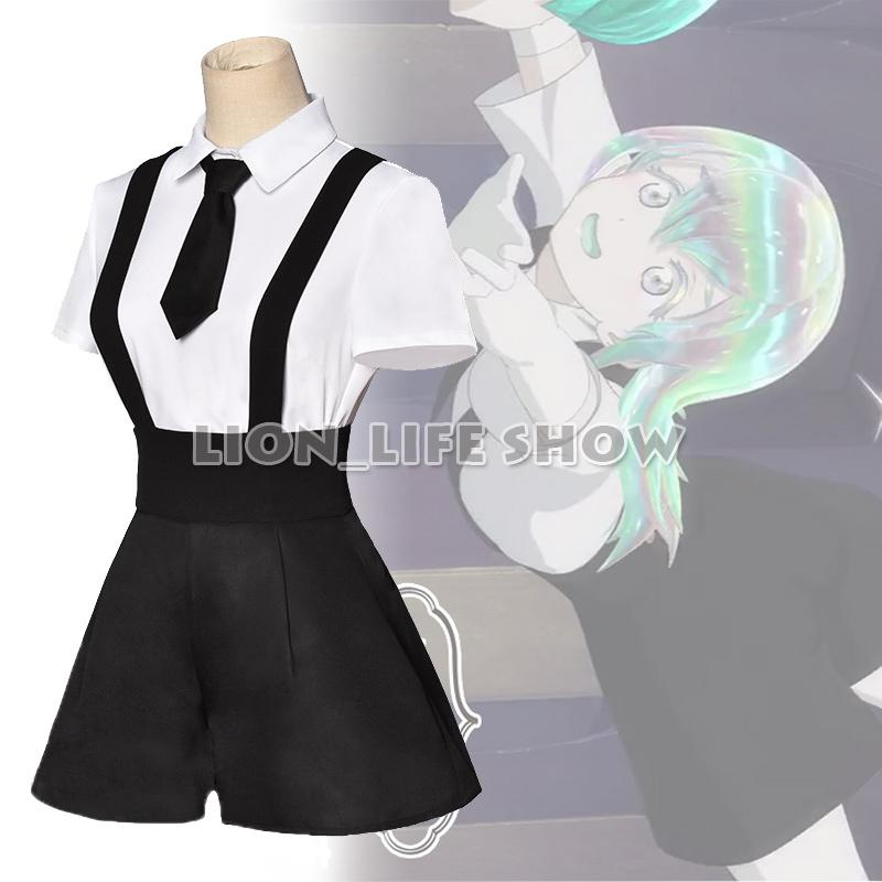 Houseki no Kuni Land of the Lustrous All Member Yellow Diamond Rutile Bort Jade Amethyst Cosplay Costume summer suit Uniforms