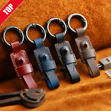 LONGSHI 2019 New Arrival Unisex Top Genuine leather PU Leather Rope Handmade mini Keychain Outdoor Home Key Chain Car Ring