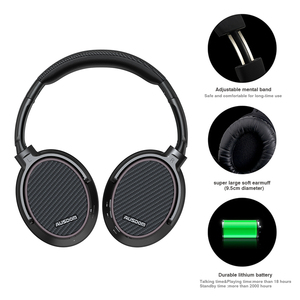 Image 3 - Ausdom ANC7S Active Noise Cancelling Wireless Headphones Bluetooth Headset with Mic Pure Sound for TV Sports Subway Plane