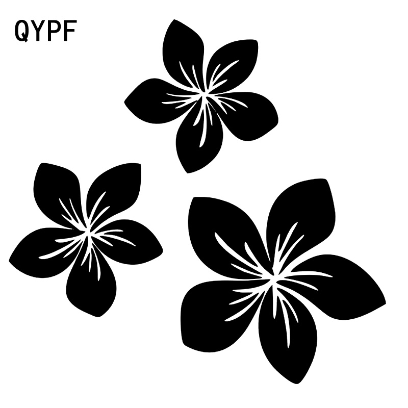 QYPF 18.6cm*17.7cm Brilliant Branches Beautiful Fancy Pattern Flower Vinyl Car Window Sticker Decal C18-0501