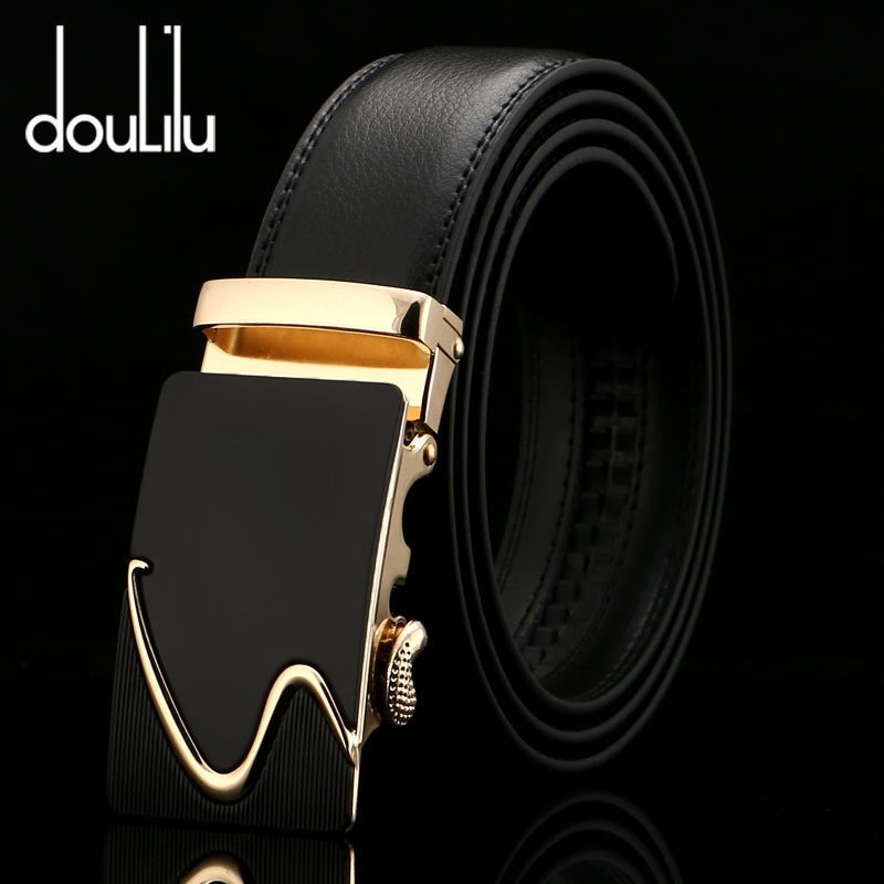 Genuine Leather Belts For Men Automatic Buckle Black Designer Adult Casual Mens Jeans Luxury Belt High Quality Fashion 2018