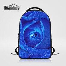 Dispalang модный рюкзак школьный рюкзак для девочек-подростков синий с принтом розы Bookbags с отделением для ноутбука женщин Mochilas