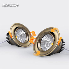 LED COB Downlight Dimmable 220V 110V 7W 10W 15W 20W Recessed Led ceiling lamp Spot light Bulbs Indoor Lighting 1pcs 10w 20w 30w 110v 220v led dimmable ceiling downlight recessed led wall lamp spot light with led driver for home lighting