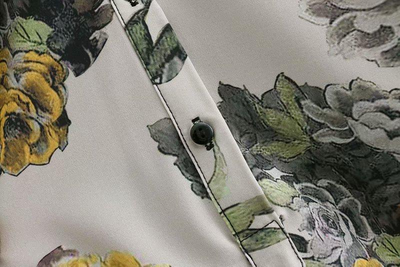 Negocios Arco Atado As Pic Ls2905 Femeninas Suelto Elegante Kimono Blusa Vintage Bata Mujeres Casual Camisa Impresión Mujer Flor Blusas Tops 2019 vPHqwZgc