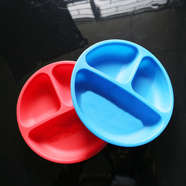 Childrenu0027s Tableware Baby Food Container Soft Childrenu0027s Plates Silicone Kids Table Ware Baby Eating Bowl & Childrenu0027s Tableware Baby Food Container Soft Childrenu0027s Plates ...