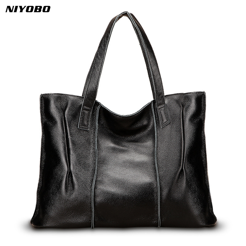 NIYOBO Luxury Genuine Leather Women Handbags High Quality 100% Real Leather Female Shoulder Messenge Bag Lady Tote Sac a main niyobo genuine leather women shoulder bag 100