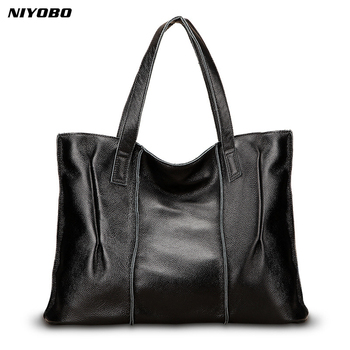 NIYOBO Luxury Genuine Leather Women Handbags High Quality 100% Real Leather Female Shoulder Messenge Bag Lady Tote Sac a main