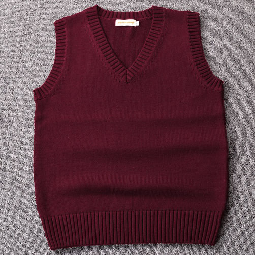 New ,Wine Red / Green / Coffee Color Sweater Vest Solid Color JK Cute Cosplay Pullover Girl School Vest