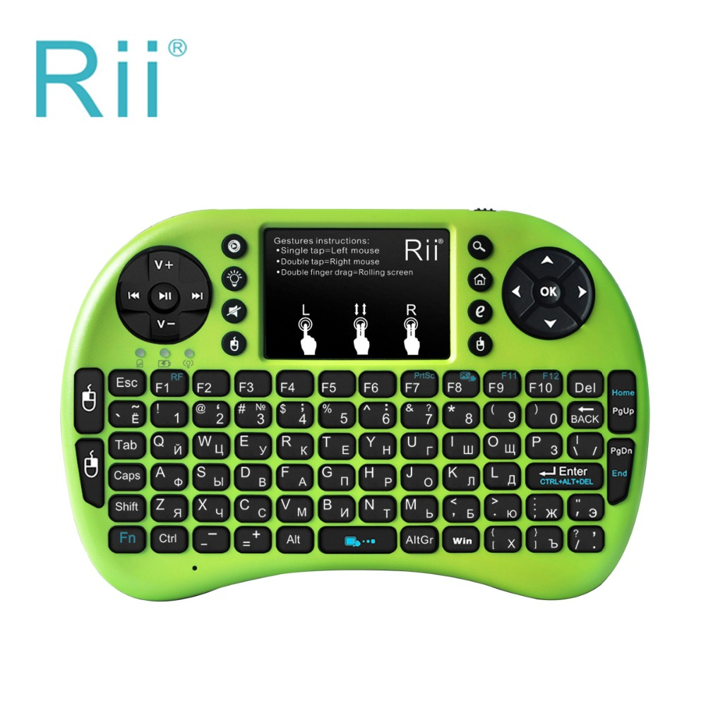 d28fe6dbc95 Original Rii i8+ Mini Wireless Gaming Keyboard Russian 2.4G Touchpad mouse  Backlit Teclado For xBox360 Smart TV Laptop Tablet PC