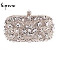 Luxy Moon Women Clutch Bag Diamond Rhinestone Pearls Beaded Wedding Clutch Purse Luxury Handbags Party Wallets Evening bolsa