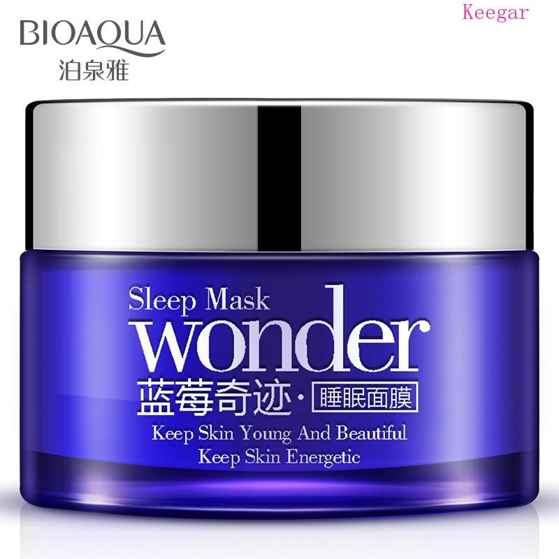 Голубика bioaqua спальный грязи увлажняющая маска для лица масла Управление от прыщей осветление спать маска для ухода за лицом маски