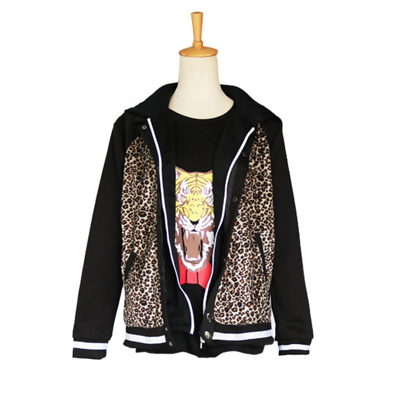 Yuri on Ice Costume Anime Cosplay PLISETSKY Jacket Men Women Top Leopard Coat Sweatshirt Tiger T shirt Long Sleeve Print Cool