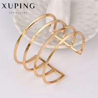 Fashion Luxury Gold Color Cuff Bracelets Bangles Women Vintage Elegant Big Bangles Womens Clothing Accessories Jewelry