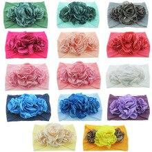 Nishine Newborn Toddler Baby Girls Head Wrap Burning Flowers Knot Turban Headband Hair Accessories Birthday Gifts