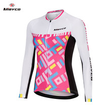 5aedbf043 Summer Long Sleeve Cycling Jersey Girl Mtb Clothing Bike Wear Clothes Women  Bicycle Maillot Roupa Ropa