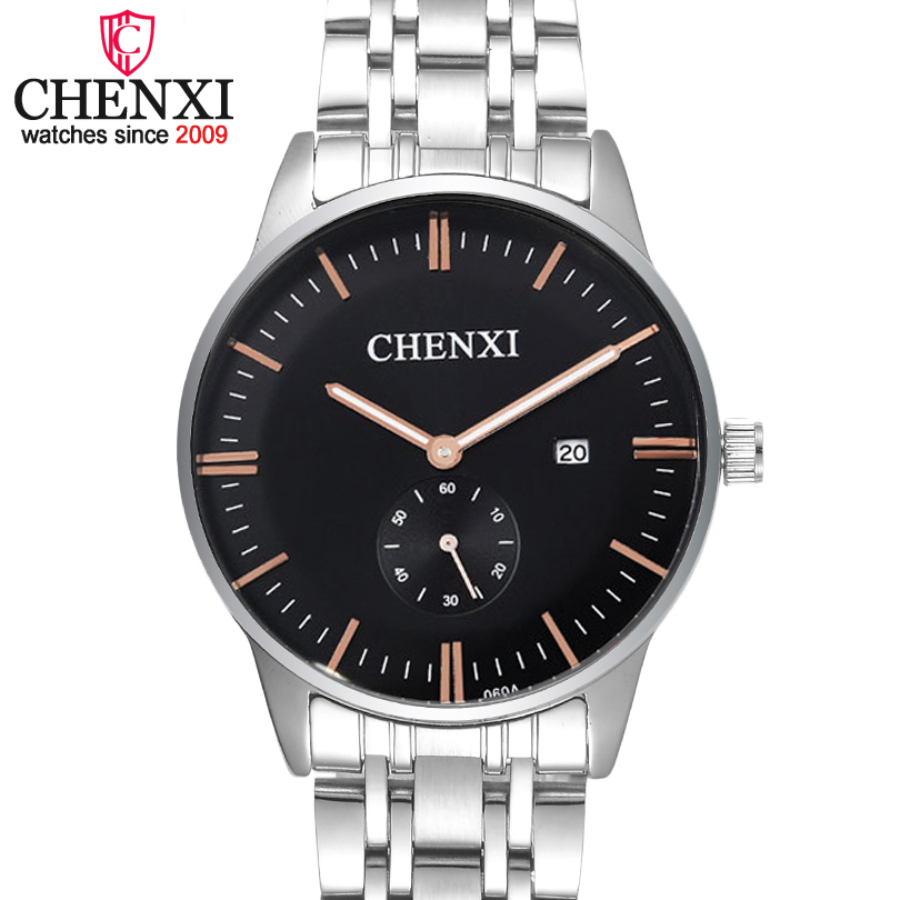 CHENXI Brand Business Women Quartz Watch Full Steel Date Display Female Wristwatch Fashion Casual Rose Gold