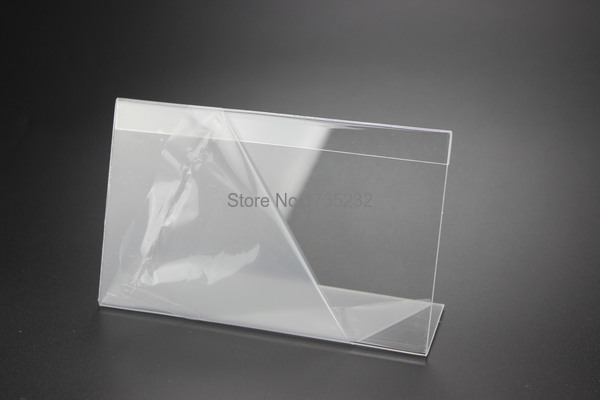 Hearty Acrylic T 1.3mm Clear Plastic Desk Sign Label Frame Price Tag Display Paper Card Holders Acrylic Label Holder Stand Frame 50pcs Card Holder & Note Holder