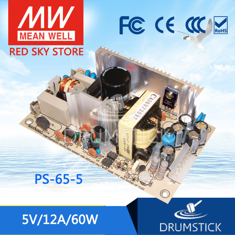 MEAN WELL PS-65-5 5V 12A meanwell PS-65 5V 60W Single Output Switching Power SupplyMEAN WELL PS-65-5 5V 12A meanwell PS-65 5V 60W Single Output Switching Power Supply