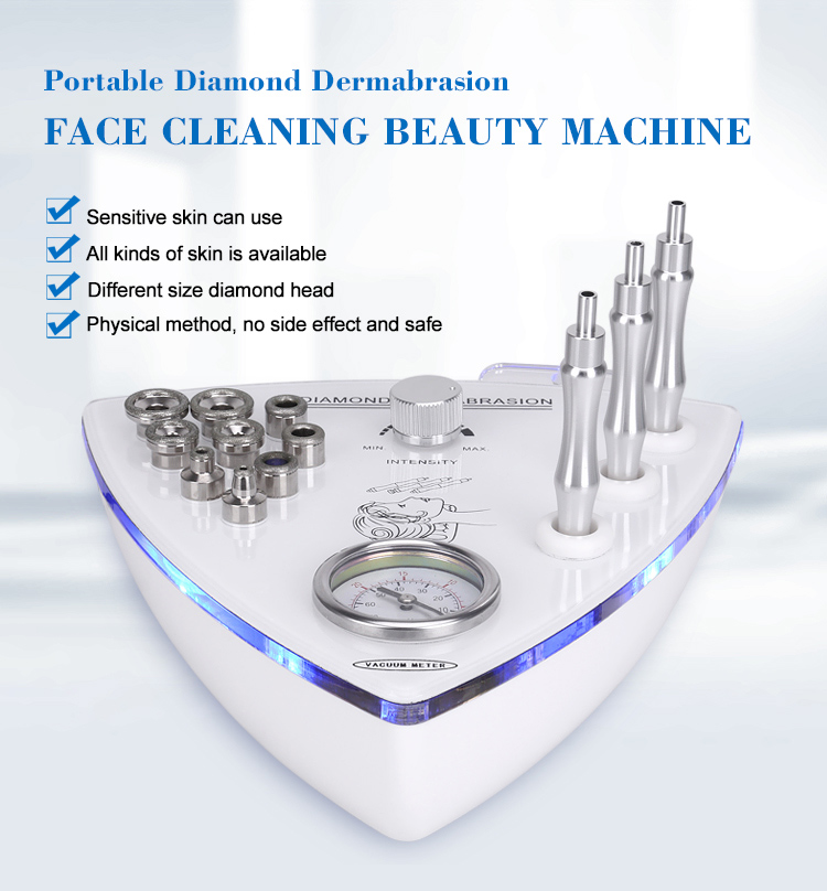 Portable super crystal skin care diamond microdermabrasion Facial peeling Beauty Tools