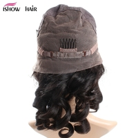 Ishow Hair Loose Wave Brazilian Full Lace Human Hair Wigs With Baby Hair No Remy Hair Pre Plucked Lace Wigs Bleached Knots