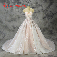 2018 new design ball gown lace wedding dress sexy transparent top wedding gown custom made factory wholesale price bridal dress