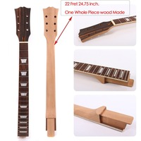 custom order Guitar Neck 22 Fret One Piece Mahogany 24.75 Inch For Set in Style LP