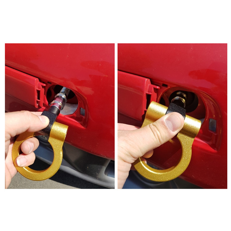 Sports Red Track Racing CNC Aluminum Tow Hook For 2014-2016 Mazda 3
