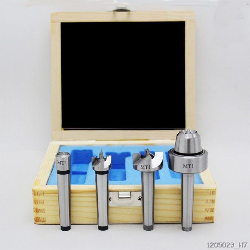 4 piezas MT1//MT2 Torno de madera Turning Spur Cup centro Set para madera Turning Tool Dedal de carpinter/ía MT2