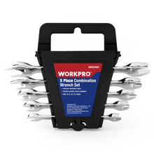 WORKPRO 5PC Metric Wrench Set  Mirror Dual End Home Hand Tool