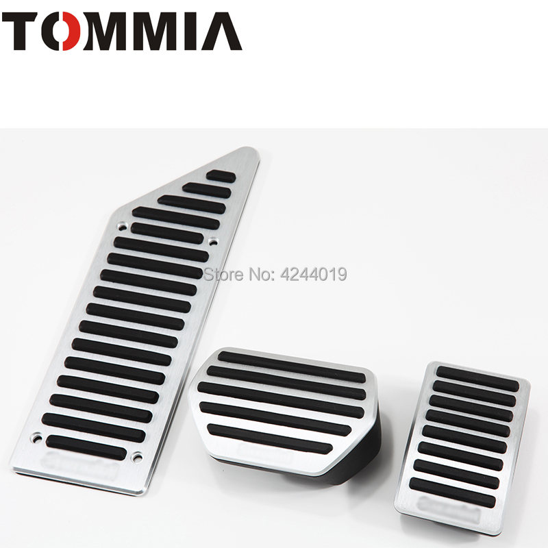 TOMMIA For Citroen C5 C6 Car Pedal Footrest Brake And Gas Pedal Pad Alumimum Alloy