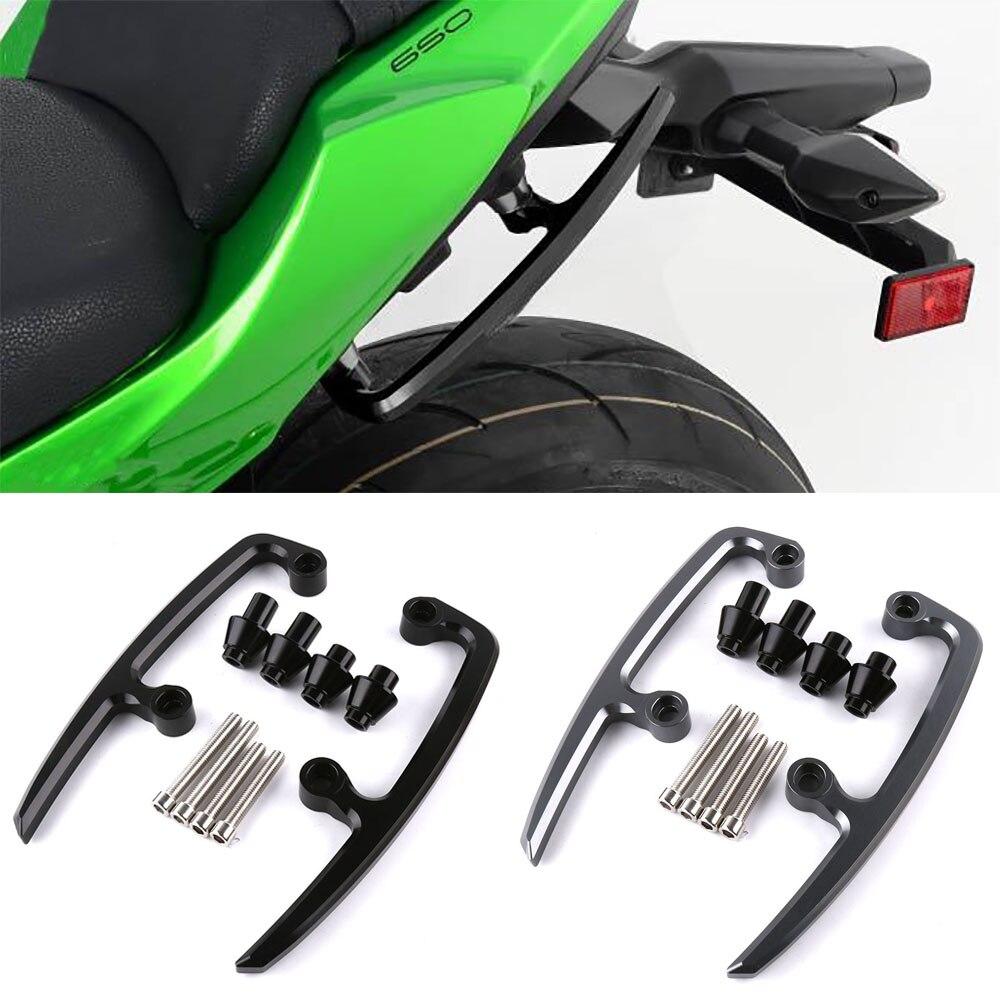 Мотоцикл с ЧПУ Алюминий сплав сзади поручень подлокотник пассажирских подлокотники для Kawasaki Z650 2017 2018