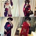 Lenços das mulheres Elegante Marca de Moda Xadrez Cachecol de Lã Das Mulheres Femme Cashmere Macio Cachecol Echarp Inverno Quente Cachecol Mulheres Pashmina