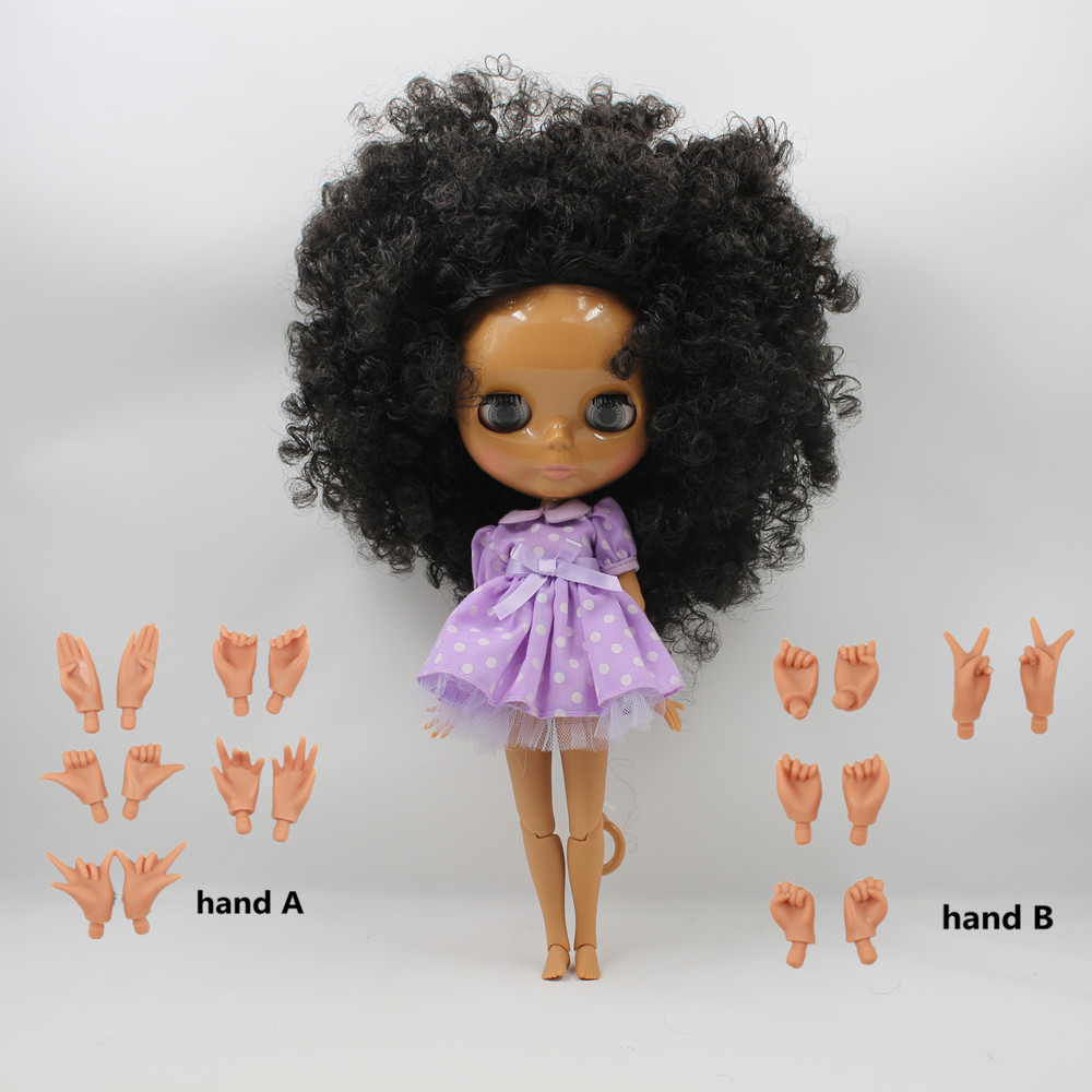 free shipping factory blyth doll nude doll 1 6 30cm bjd neo dark skin joint body