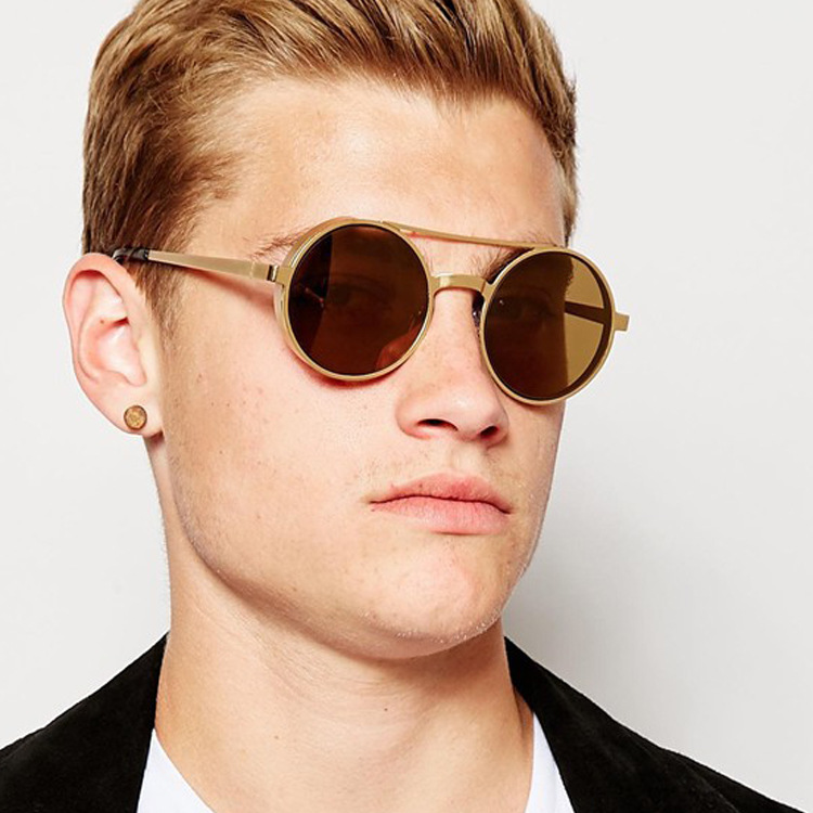 Round Frame Sunglasses Mens  online get round frame sunglasses men aliexpress com