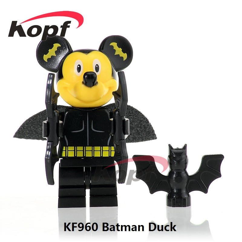 Single Sale KF960 Super Heroes Batman Wolverine Captain America Deadpool Duck Mini Dolls Building Blocks Children Gift Toys single sale super heroes red yellow deadpool duck the bride terminator indiana jones building blocks children gift toys kf928