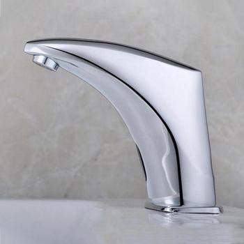 Copper automatic water sense faucet water tap, Bathroom single cold wash basin sense faucet ,Toilet infrared sense faucet chrome