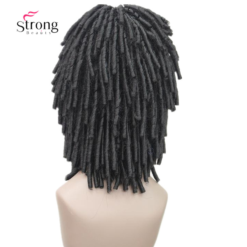 Black medium lengthTwist Hair Crotchet Braids Wigs Synthetic Dreadlocks Braids Hair Wig COLOUR CHOICES
