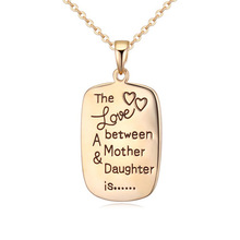 Фотография Fashion Alloy Necklace And Engraved With The Love Between A Mother Daughter Is And Men And Women Love Letter Jewelry Wholesale