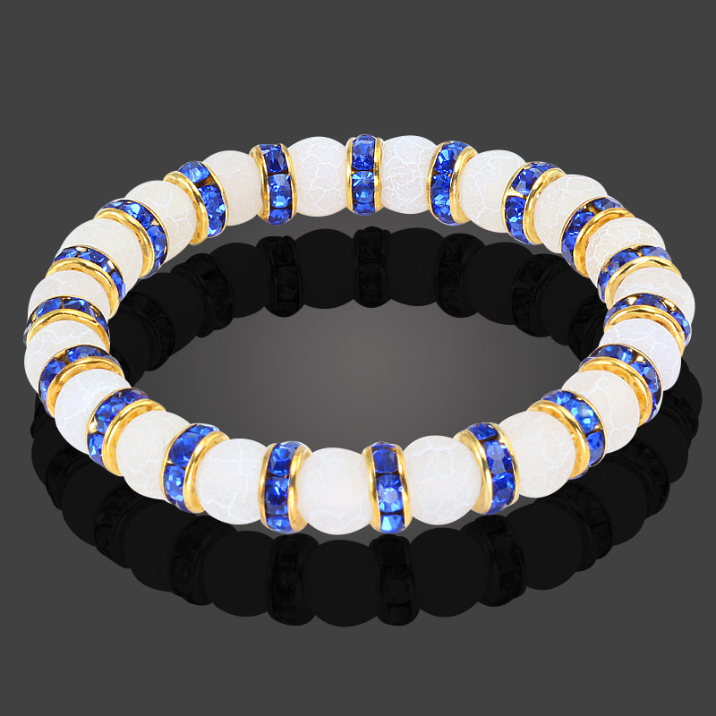 Classic Natural Stone White Weathering Bracelet Men Trendy Round Prayer Female Charm Crystal Bracelets for Women Jewelry Gifts