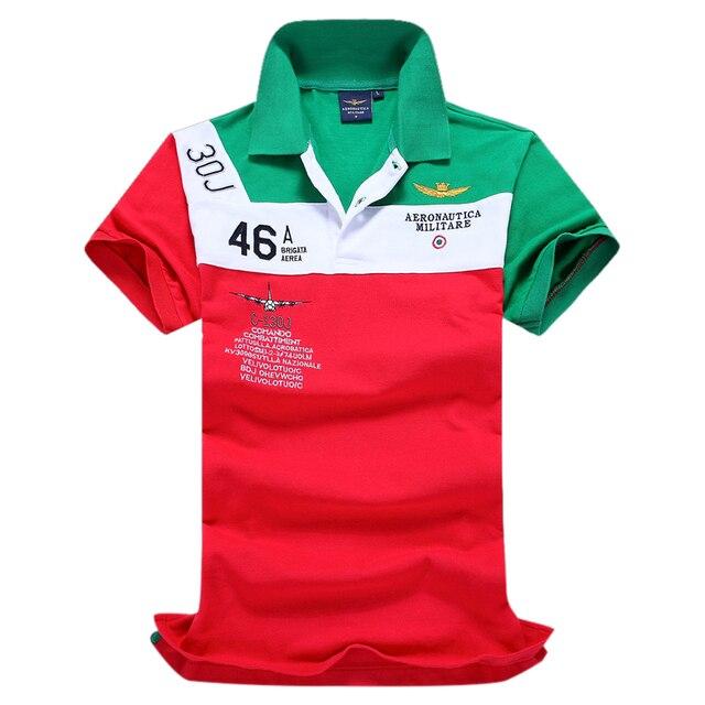 Uwback 2017 новый бренд лето polo shirt homme ввс aeronautica военной печати polo мужчины плюс размер поло мужчины TA062