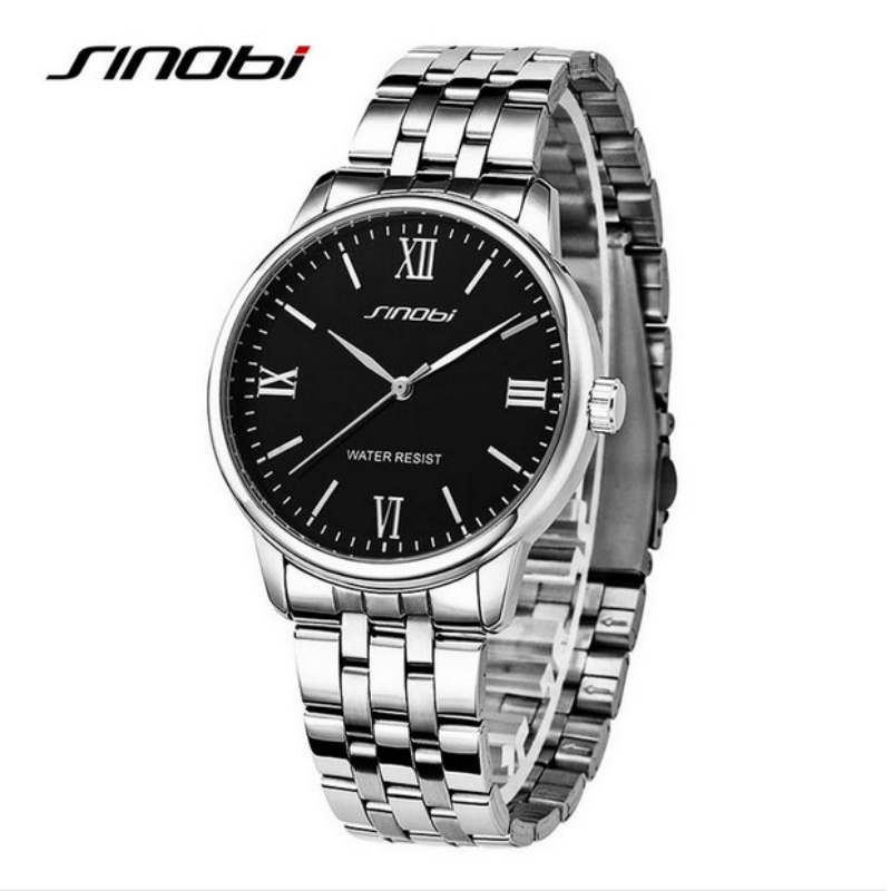 SINOBI Top Brand Luxury Watch Women Watches Roman Full Steel Ladies Watch Fashion Women's Watches montre femme relogio feminino new new fashion french manicure 3d nail art diy stickers tips decal nail decoration bcdi
