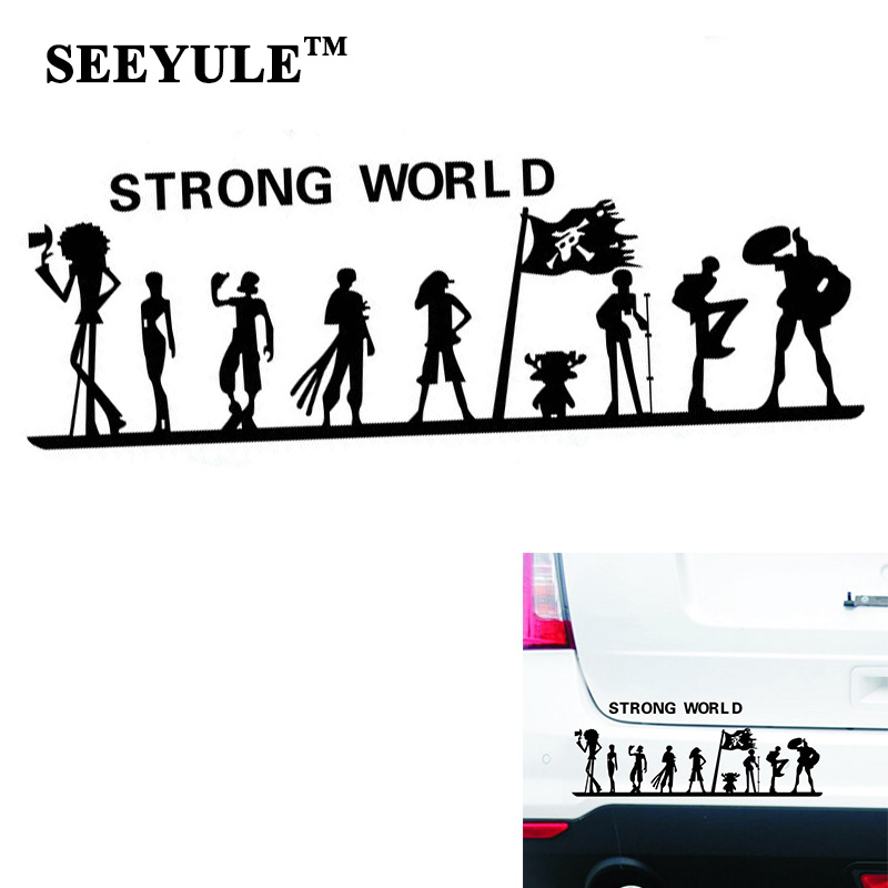 1pc SEEYULE One Piece Strong World Car Sticker Pirate