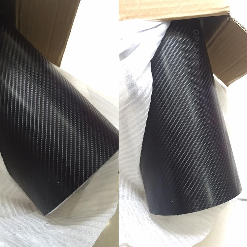 Offre spéciale 4D fibre de carbone rouge 4D fibre de carbone vinyle pour décalcomanies de voiture avec égouttoir à Air taille: 1.52 m * 30 m
