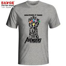 Мстители 4 эндгейм футболка чудесная Бесконечная война конец игры танос футболка новинка футболка EATGE хлопок белый серый для мужчин и женщин