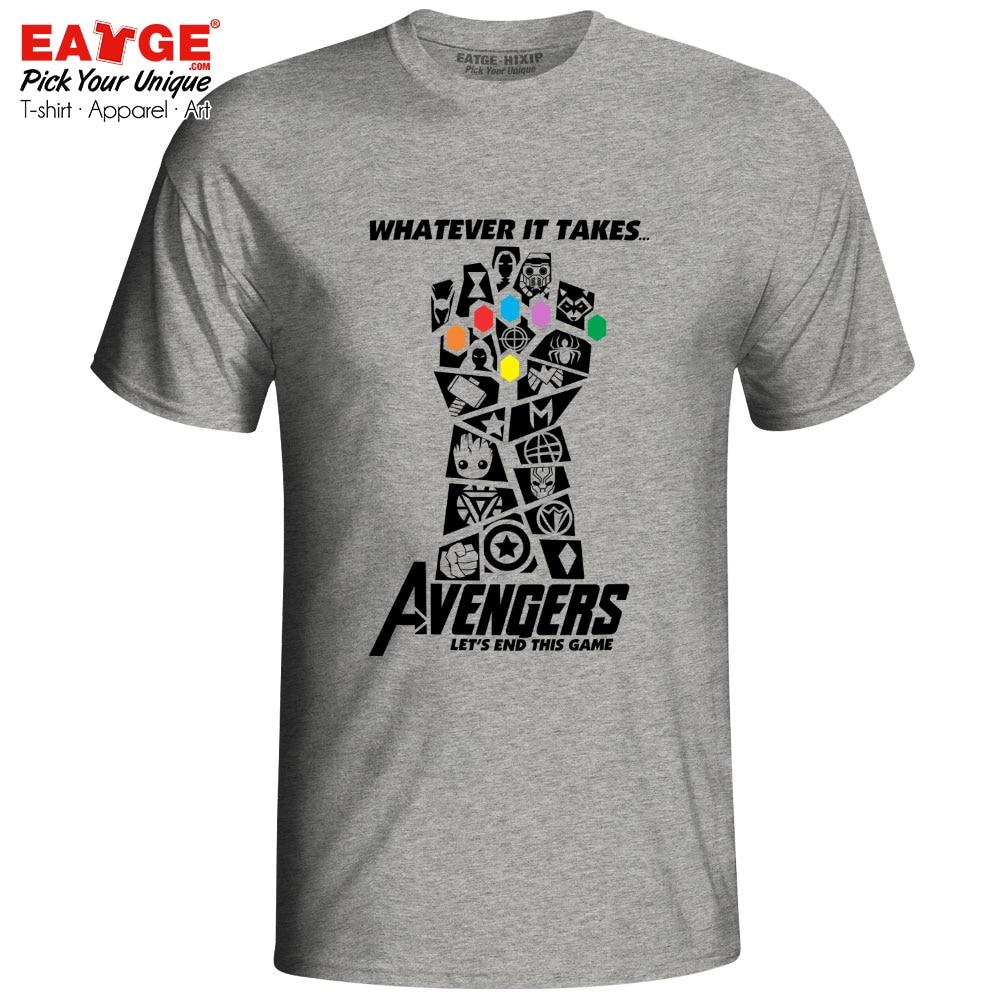 Avengers 4 Endgame T Shirt merveilleux Infinity War End jeu Thanos Tshirt nouveauté T-shirt EATGE coton blanc gris hommes femmes Tee