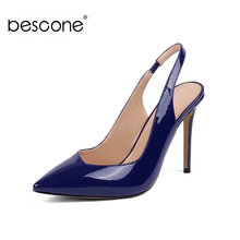 BESCONE Sexy Pointed Toe 10 cm Super High Heel Women Pumps Casual Slip-On Thin Heel Shoes New Handmade Shallow Ladies Pumps BY12 poadisfoo 2018 women s fashion simple thin high heel shallow mouth ladies sexy pumps 10 5cm psds 638 5
