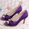 Wedopus Custom Handmade Peep Toe Bridesmaid Purple Shoes Groom High Heel 8CM New Arrive