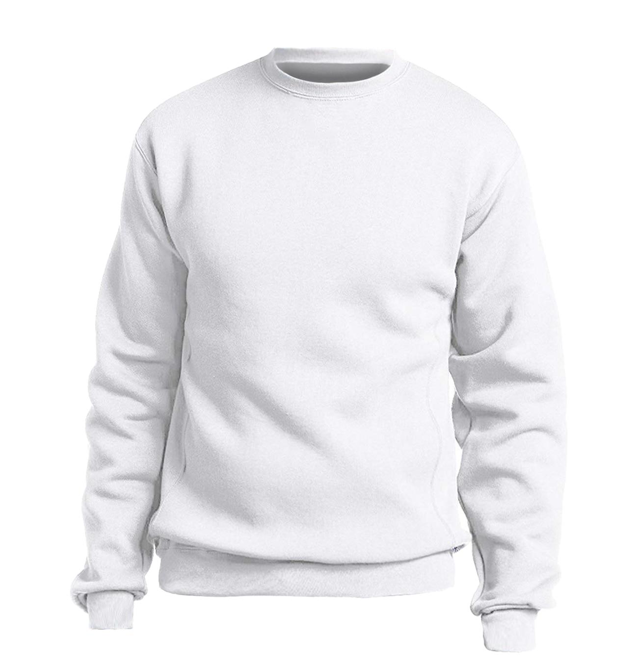 Solid color Sweatshirt Men Hoodie Crewneck Sweatshirts Winter Autumn Fleece Hoody Casual Gray Blue Red Black White Streetwear 6